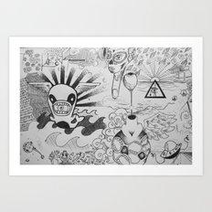 Doodles! Art Print