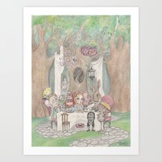 The Tea Party  Art Print