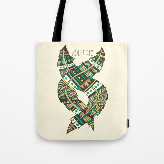 Soulmate Feathers Tote Bag