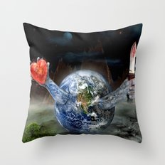 Save Our World 17 Throw Pillow