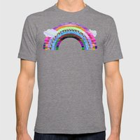 glitchbow Mens Fitted Tee Tri-Grey SMALL