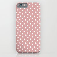 Mauve polka dots pattern - classy college student collection iPhone 6 Slim Case