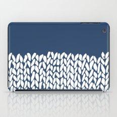 Half Knit Navy iPad Case