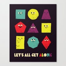Let's All Get Along Canvas Print