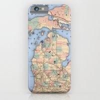 Michigan Railroad Map iPhone 6 Slim Case