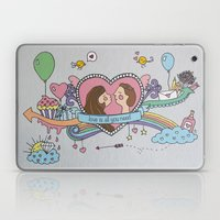Valentine's Doodle Laptop & iPad Skin