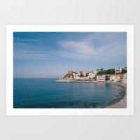 ligurian coast view Art Print