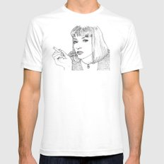 Mia (Mia Wallace Pulp Ficion) Mens Fitted Tee SMALL White