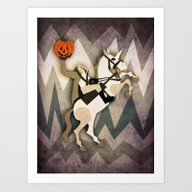 Art Print featuring Headless Unicornman by That's So Unicorny