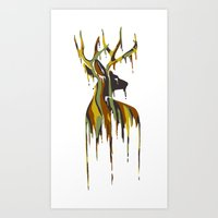 Painted Stag Art Print