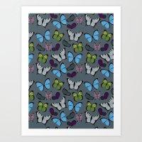 Butterflies 01 Art Print
