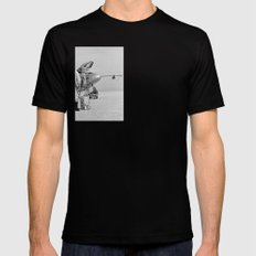 X-24A on Lakebed SMALL Mens Fitted Tee Black