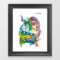 BORN BRAVE Framed Art Print