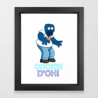 COOKIE D'OH! Framed Art Print