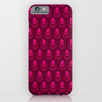 iPhone & iPod Case featuring Pink vintage feather pattern by Lain de Macias