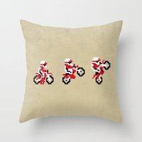 Excitebike Throw Pillow