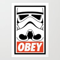 OBEY Storm Trooper  Art Print