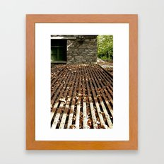 Against the wall Framed Art Print