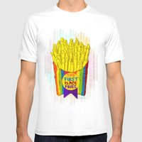 The First Place FRIES Mens Fitted Tee White SMALL