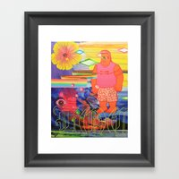 Locals Only Framed Art Print
