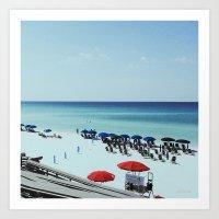 Day At The Beach Serie #… Art Print