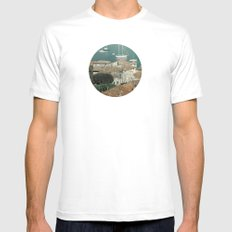 sky of water SMALL Mens Fitted Tee White