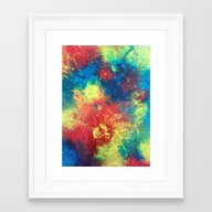 Print Of Painted Abstrac… Framed Art Print