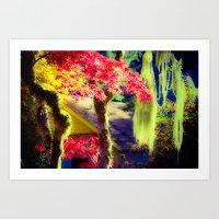 Fall Colors at Crescent Lake Lodge Art Print
