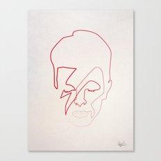 One line Aladdin Sane Canvas Print
