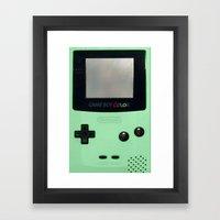 Gameboy Color: Mint Framed Art Print
