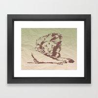 Lion Artwork Vintage Framed Art Print
