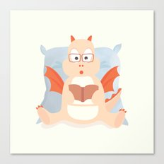 little smart dragon Canvas Print