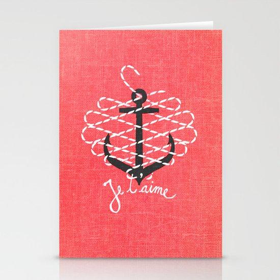 Je t'aime Stationery Card
