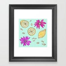 Pink Lemonade Framed Art Print