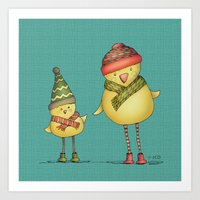 Two Chicks Art Print