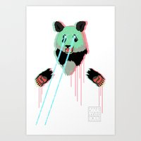 Panda With F$%king Lazer… Art Print