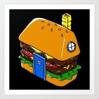 Burger House Art Print