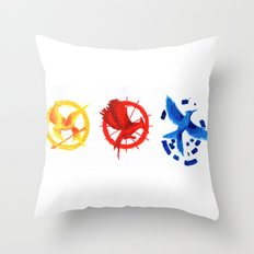 The H Games - Mockingjay Throw Pillow