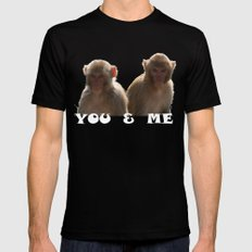 You & Me Black SMALL Mens Fitted Tee