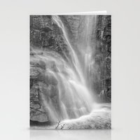 Mountains Water. Monochr… Stationery Cards
