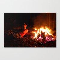 Snow Fire Canvas Print