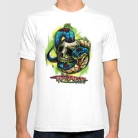 Snake Bite Mens Fitted Tee White SMALL