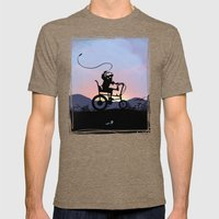 Ghost Rider Kid Mens Fitted Tee Tri-Coffee SMALL