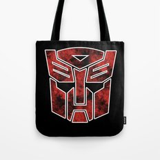 Autobots in flames - Transformers Tote Bag