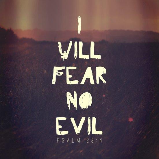 I will fear no evil - Ps 23:4  Art Print