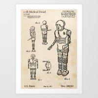 21B Healer Droid - Vinta… Art Print