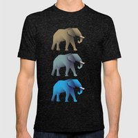 Elephants Mens Fitted Tee Tri-Black SMALL