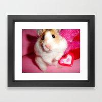Pixi the Hamster: Love Edition Framed Art Print