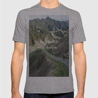 Thousand Miles Mens Fitted Tee Athletic Grey SMALL