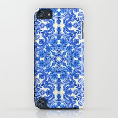 Cobalt Blue & China White Folk Art Pattern iPod touch Slim Case